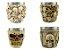 Kit 4 Copos Shot Dose Colecionável Decorativo  Em Aço Inox Resina Para Tequila Whisky Vodka - Imagem 5