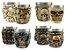 Kit 4 Copos Shot Dose Colecionável Decorativo  Em Aço Inox Resina Para Tequila Whisky Vodka - Imagem 1