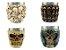 Kit 4 Copos Shot Dose Colecionável Decorativo  Em Aço Inox Resina Para Tequila Whisky Vodka - Imagem 2