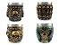 Kit 4 Copos Shot Dose Colecionável Decorativo  Em Aço Inox Resina Para Tequila Whisky Vodka - Imagem 4