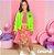 Vestido Rosa Manga Longa com saia Neon - Animê - Imagem 2