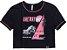 T-Shirt Preta com detalhes  Rosa Neon -  AUHTORIA - Imagem 1