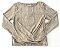 Blusa Plissada Dourada - Animê - Imagem 1