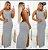 Vestido Frente Única Longo Fenda - Imagem 3