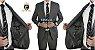 Terno Slim Masculino CINZA Microfibra Corte Italiano - Imagem 1