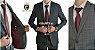 Terno Slim Masculino GRAFITE 12 Microfibra Corte Italiano - Imagem 1