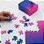 Gradient Puzzle Pequeno - 100 peças (Pink/Blue) - Imagem 2