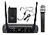 Microfone Sem Fio KSR PRO KSR002D Duplo Bastão UHF - Imagem 1