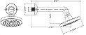 "CHUVEIRO EDEN - DN15(1/2"") - CHROME 573906 - Imagem 2"
