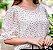 Blusa Leve Orquídea  branco com poá Ref.: 021642 - Imagem 1