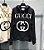 """Moletom Gucci Interlocking G com capuz """"Black/White"""" (PRONTA ENTREGA) - Imagem 1"""