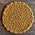 Jogo Americano de Crochê Mostarda - Imagem 1