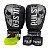 Kit Boxe Luva de Boxe / Muay Thai 16oz PU + Bandagem + Bucal - Preto com Prata Caveira - Pulser - Imagem 1