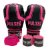 Kit Thai Luva de Boxe / Muay Thai 10oz PU + Caneleira 20mm + Bandagem + Bucal - Preto com Rosa Iron - Pulser - Imagem 2