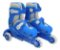 Patins Infantil Menino 3 Rodas Ajustável Inline Triline Azul - Imagem 1