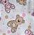 Jogo de Berço Vivaldi Baby Ursa Rosa – 2 peças - Imagem 3
