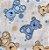 Jogo de Berço Vivaldi Baby Urso Azul – 2 peças - Imagem 3