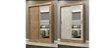 Guarda Roupa Solteiro 2 Portas 2 Gavetas com Espelho - Imagem 4
