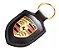 Chaveiro Automotivo de Couro Porsche - Preto - Imagem 2