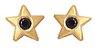 Brinco Estrela Mini de Ouro com Espinélio 18k - Imagem 1