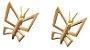 Brinco Mini Borboleta de Ouro - 18k - Imagem 1