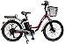 Bicicleta Elétrica Lev E-bike L Aro 24 - Bordô - Imagem 1