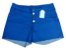 Shorts Hot Pants Feminino Jeans Colorido Plus Size - Imagem 1