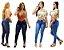 Calça Jeans Feminina Cintura Alta Com Lycra Hot Pants Frete Grátis - Imagem 1