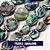 Brinco gota de pedra natural abalone folheado ouro 18k  - Imagem 4