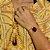 Bracelete de pedra natural ágata vermelha folheado a ouro 18k - Imagem 2