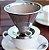 Filtro de Café Coador Médio Aço Inox Portátil Individual com Base - Imagem 3