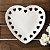 Prato Decorativo Borda Coração Branco 18 cm - Imagem 2