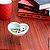 Porta Objetos Enfeite Decorativo de Cerâmica Coração Verde 7cm - Imagem 4