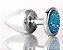 Plug Less P Cromado Com Pedra Cravejada Azul HA143CA - Imagem 1