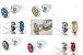 Plug Less M Cromado Com Pedra  Cravejada Prata Cromada HA144CC - Imagem 3