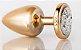Plug Anal Less M Dourado Com Pedra Cravejada Cromada Prata HA144DC - Imagem 7