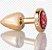 Plug Anal Less P Dourado Com Pedra Cravejada Vermelha  HA143DV - Imagem 1