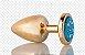 Plug Anal Less M Dourado Com Pedra Cravejada Azul HA144DA - Imagem 6