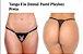 Tanga Fio Dental Paetê Playboy Preta - Imagem 4