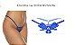 Tanga Fio Dental Butterfly - Azul - Imagem 1