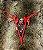 Calcinha Bicolor Vermelha c/ Preto - Imagem 1