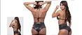 Conjunto Cirré Top Biquini e  Shorts Linha Madame X Miss Collection - Imagem 4