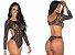 Body Sensual Escândalo Preto Pimenta Sexy - Imagem 1