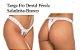 Tanga Fio Dental Pérola Safadinha - Branco - Imagem 1