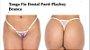 Tanga Fio Dental Paetê Playboy Branca - Imagem 1