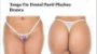 Tanga Fio Dental Paetê Playboy Branca - Imagem 4