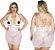 Camisola Plus Size Renda Curta - Imagem 1