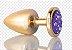 Plug Anal Less M Dourado Com Pedra Cravejada Lilás HA144DL - Imagem 6
