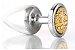 Plug Less P Cromado Com Pedra Cravejada Dourada HA143CD - Imagem 5