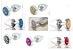 Plug Less P Cromado Com Pedra Cravejada Dourada HA143CD - Imagem 3
